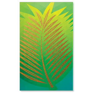 Bold Iconography Palm Branch 3 x 5 Vinyl Banner