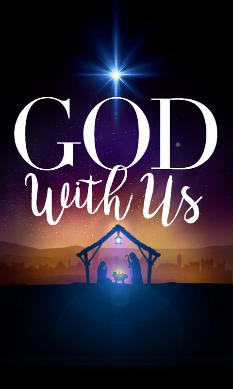 God With Us Advent Banner Church Banners Outreach