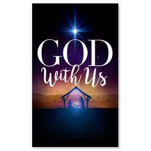 God With Us Advent 3 x 5 Vinyl Banner