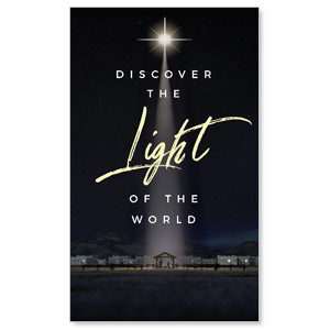 Discover Light of World 3 x 5 Vinyl Banner