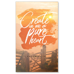 Beautiful Praise Pure Heart 3 x 5 Vinyl Banner