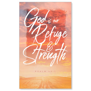 Beautiful Praise Refuge and Strength 3 x 5 Vinyl Banner