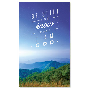 Mountains Be Still 3 x 5 Vinyl Banner
