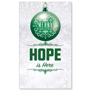 Silver Snow Hope Ornament Banners