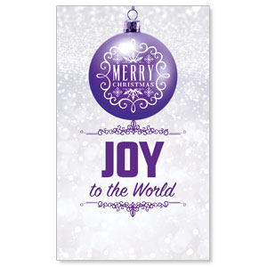 Silver Snow Joy Ornament 3 x 5 Vinyl Banner