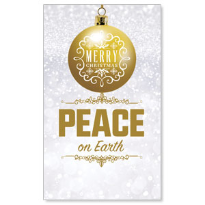 Silver Snow Peace Ornament 3 x 5 Vinyl Banner