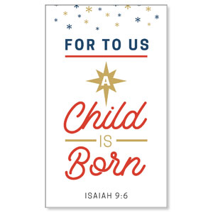 Stamped Christmas Child Born 3 x 5 Vinyl Banner