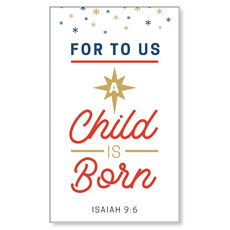 Stamped Christmas Child Born