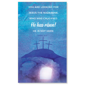 Blue Purple Easter Tomb 3 x 5 Vinyl Banner