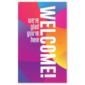 Curved Colors Welcome 3 x 5 Vinyl Banner