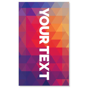Geometric Bold Your Text Here 3 x 5 Vinyl Banner