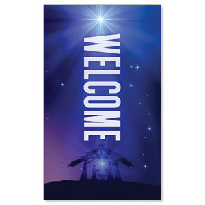 Aurora Lights Christmas Welcome 3 x 5 Vinyl Banner
