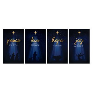 Christmas Star Hope is Born Advent Set 3 x 5 Vinyl Banner
