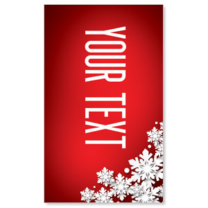 Christmas At Red Your Text 3 x 5 Vinyl Banner