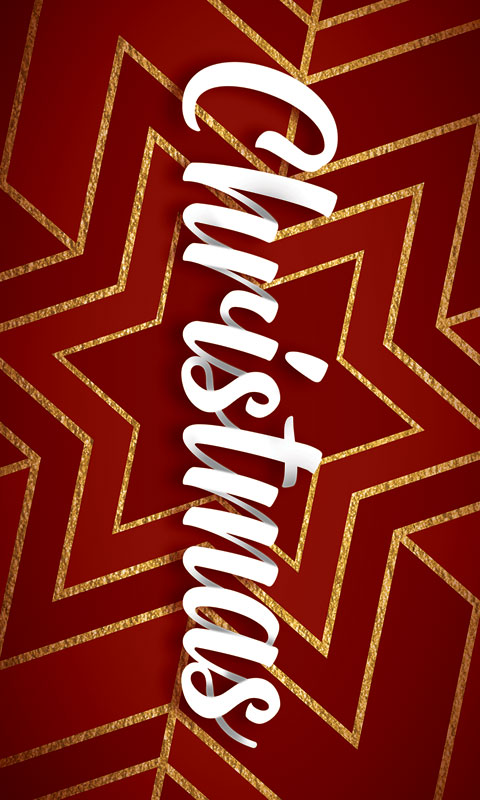 Banners, Christmas, Red and Gold Snowflake, 3 x 5