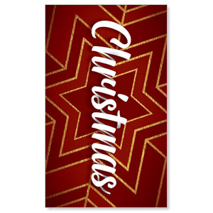 Red and Gold Snowflake 3 x 5 Vinyl Banner
