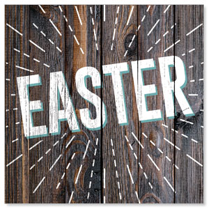 Dark Wood Easter At 3 x 3 Vinyl Banner