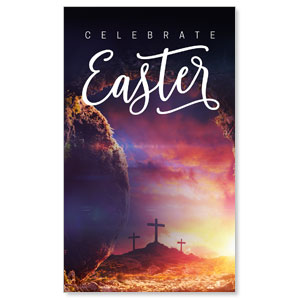 Dramatic Tomb Easter 3 x 5 Vinyl Banner