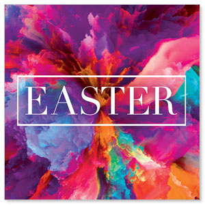 Easter Color Smoke 3 x 3 Vinyl Banner