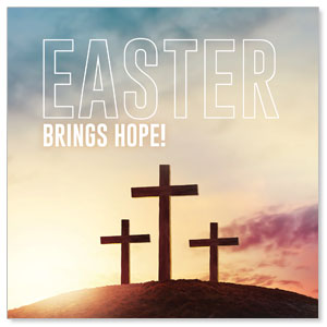 Easter Hope Outline 3 x 3 Vinyl Banner