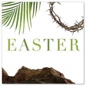 Easter Week Icons 3 x 3 Vinyl Banner