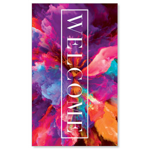 Easter Color Smoke Welcome 3 x 5 Vinyl Banner
