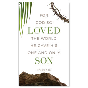 Easter Week Icons Scripture 3 x 5 Vinyl Banner