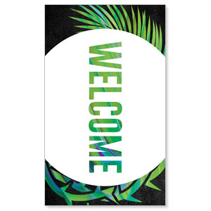 Easter Palm Crown Welcome 3 x 5 Vinyl Banner