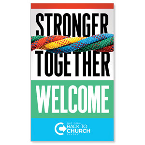 BTCS Stronger Together Welcome 3 x 5 Vinyl Banner