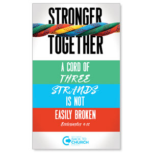 BTCS Stronger Together Scripture 3 x 5 Vinyl Banner