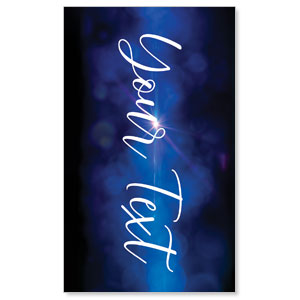 Celebrate Christmas Blue Sparkle Your Text 3 x 5 Vinyl Banner