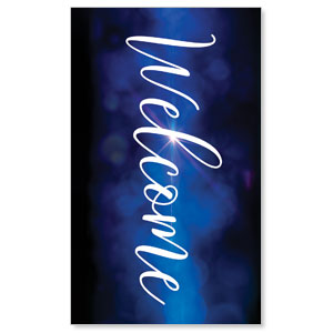 Celebrate Christmas Blue Sparkle Welcome 3 x 5 Vinyl Banner