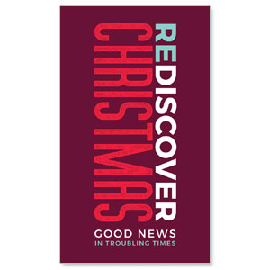 ReDiscover Christmas Advent Contemporary 3 x 5 Vinyl Banner