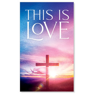 Love Easter Colors 3 x 5 Vinyl Banner