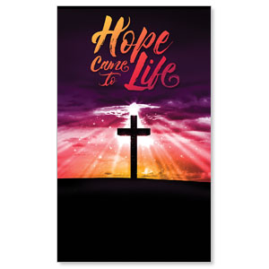 Hope Life Cross 3 x 5 Vinyl Banner