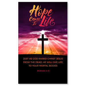 Hope Life Cross Scripture 3 x 5 Vinyl Banner