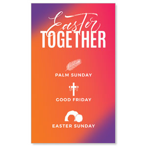 Easter Together Hues 3 x 5 Vinyl Banner