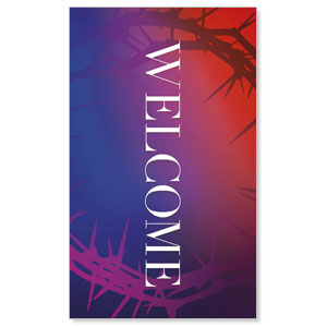 Celebrate Easter Crown Welcome 3 x 5 Vinyl Banner