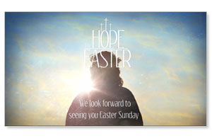 The Hope of Easter Welcome Video Customized Customized Videos