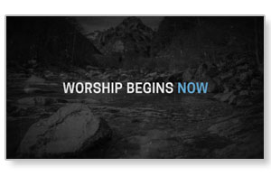 Now's the Time Motion Worship Video Custom Videos