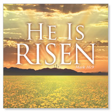 He is Risen Window Banner