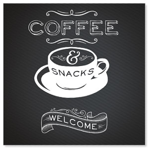 Chalk Coffee Window Banners