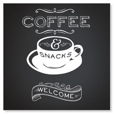 Chalk Coffee Window Banner