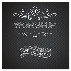 Chalk Worship Window Banner