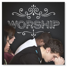 Chalk Worship People Window Banner
