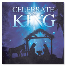 Celebrate the King Window Banner