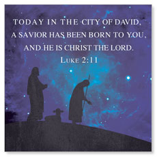Celebrate the King Lk 2:11 Window Banner