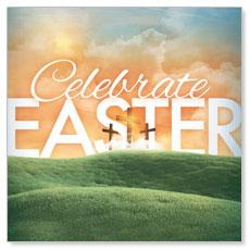 Easter Landscape Window Banner