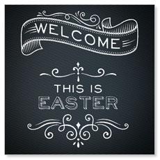 Chalk Easter Window Banner