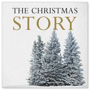 Christmas Story Trees Window Banners